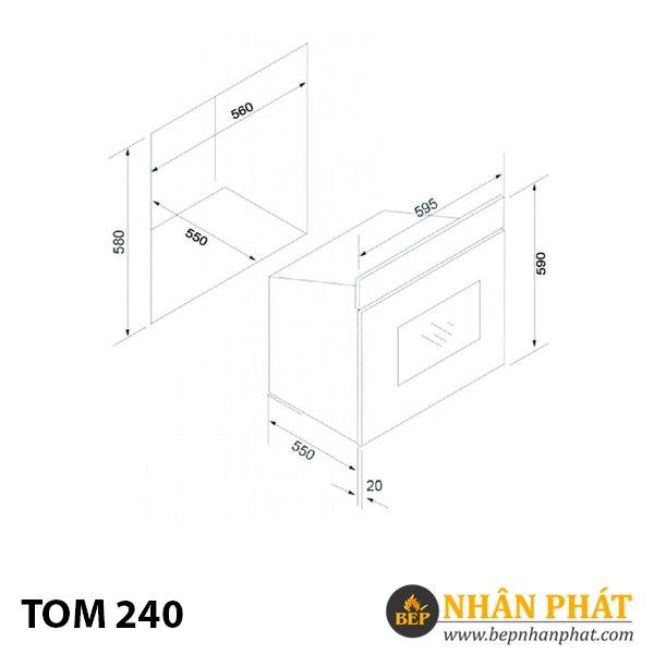 Lò nướng TOM 240