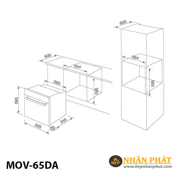 Lò nướng MALLOCA MOV-65DA (Kính trắng) 5