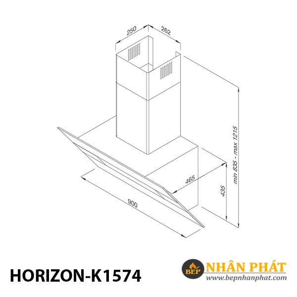 Máy hút mùi áp tường Malloca HORIZON K1574 5