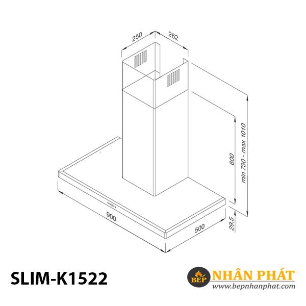 Máy hút khói khử mùi áp tường Malloca SLIM K1522 5