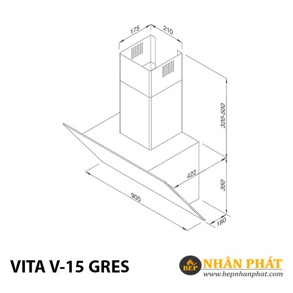 Máy hút mùi áp tường Malloca VITA V-15 GRES 5