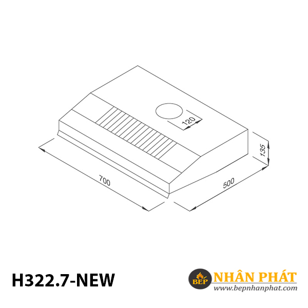Máy hút mùi cổ điển Malloca H322.7 NEW 5