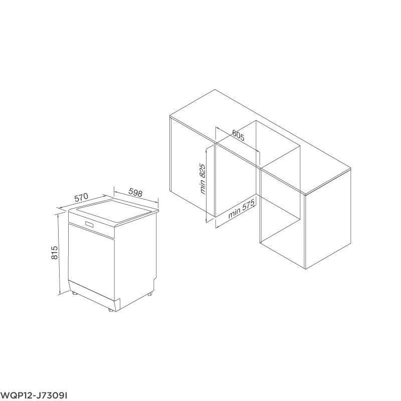 Máy Rửa Chén Âm Tủ Malloca WQP12-J7309I 4