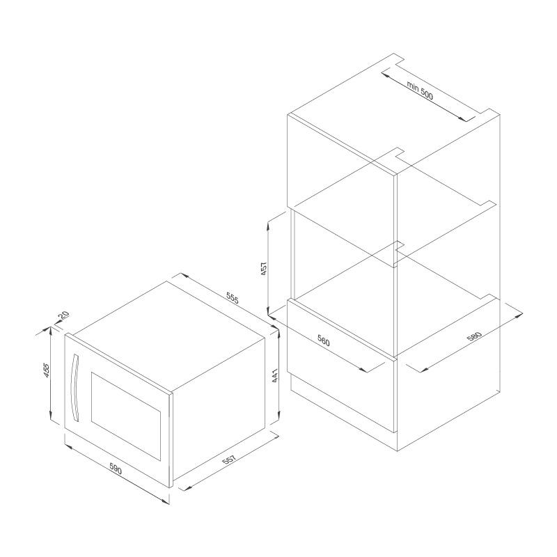 Tủ Bảo Quản Rượu Âm Tủ Malloca MWC-22G 5