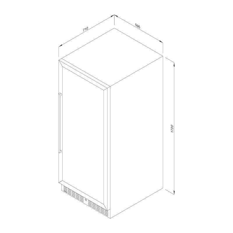 Tủ Bảo Quản Rượu Vang Âm Tủ/Độc Lập Malloca MWC-180BG 5