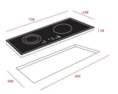 Bếp từ 2 vùng nấu Teka IZ 7210 5