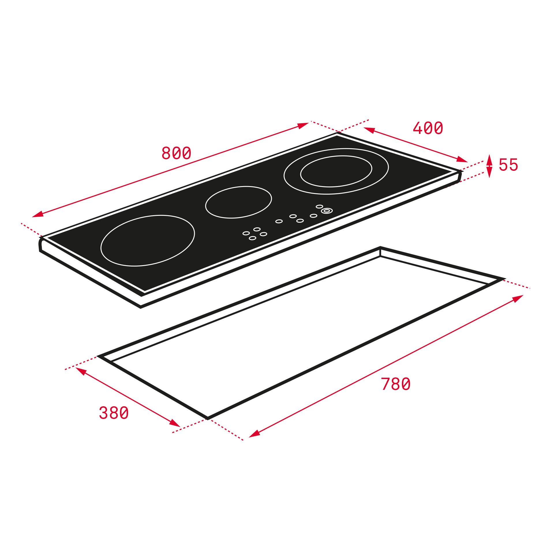 Bếp từ 3 vùng nấu Teka IZ 8320 HS 5
