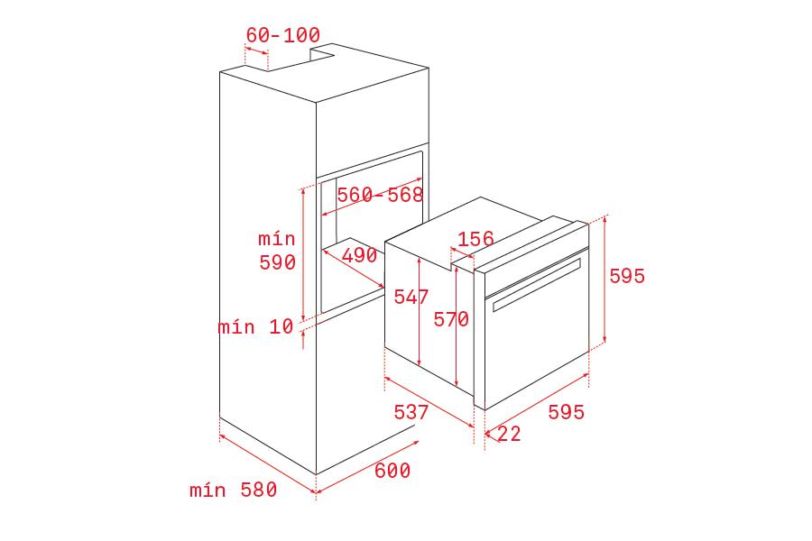 Lò nướng âm tủ Teka HBB 605 SS 5