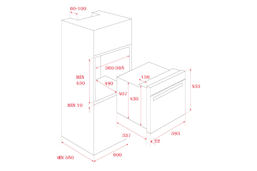 Lò nướng đối lưu lắp âm Teka HLC 840 6