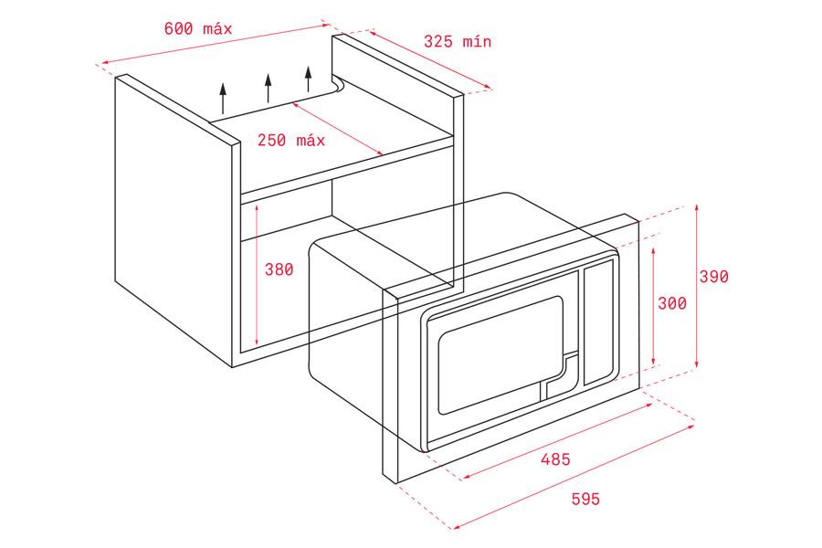 Lò vi sóng kết hợp nướng Teka MS 620 BIS 5