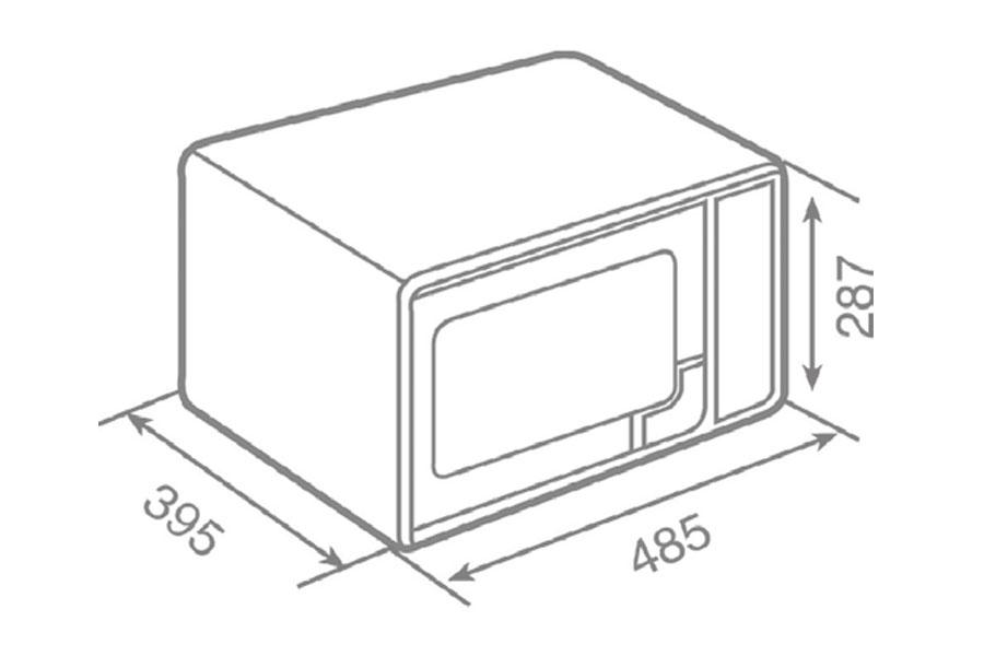 Lò vi sóng kết hợp nướng đứng độc lập MWE 210 G 5