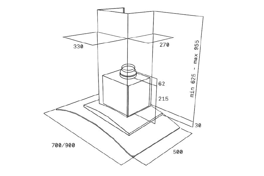 Máy hút mùi kính cong Teka NC 780/NC 980 5