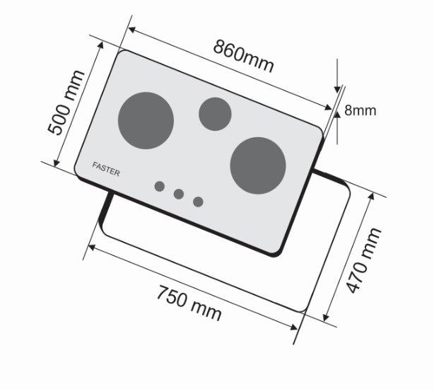 BẾP GAS FASTER FS 302GB 3