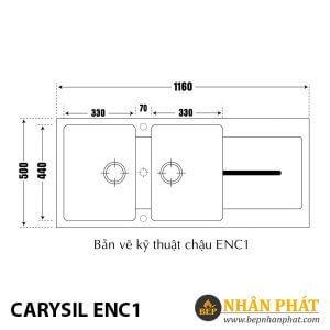 Chậu Rửa Chén Đá Carysil ENC1