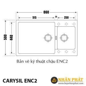 Chậu Rửa Chén Đá Granite Carysil ENC2