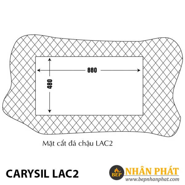 Chậu Rửa Chén Đá Granite Carysil LAC2