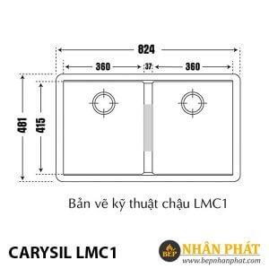 Chậu Rửa Chén Đá Granite Carysil LMC1