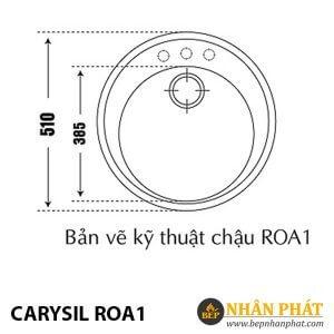 Chậu Rửa Chén Đá Granite Carysil ROA1
