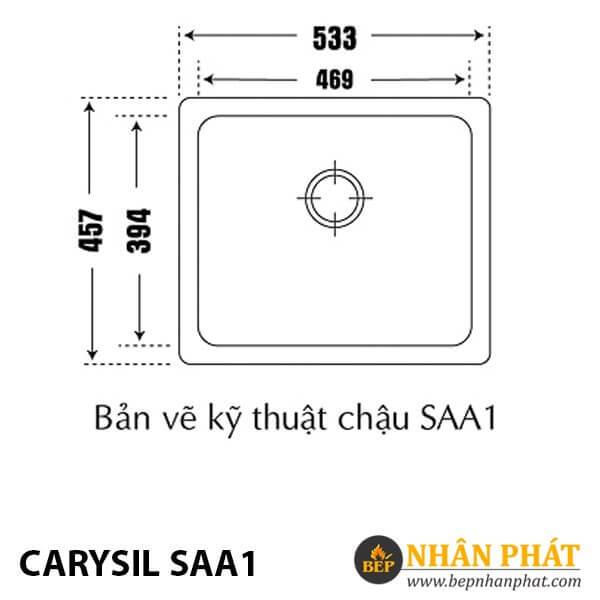 Chậu Rửa Chén Đá Granite Carysil SAA1