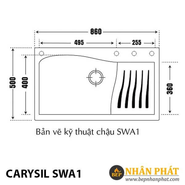 Chậu Rửa Chén Đá Granite Carysil SWA1