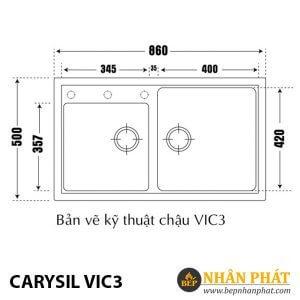 Chậu Rửa Chén Đá Granite Carysil VIC3