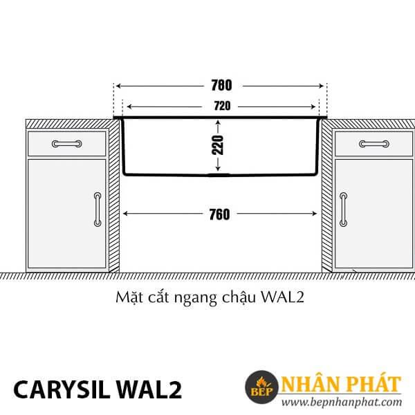 Chậu Rửa Chén Đá Granite Carysil WAL2