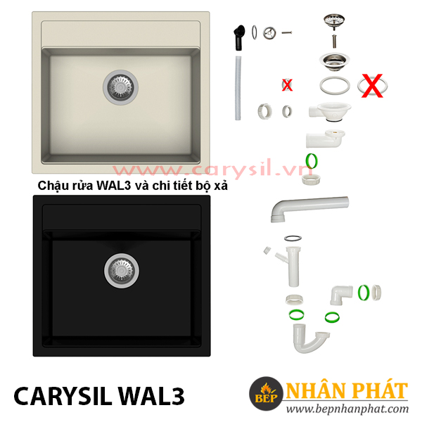 Chậu Rửa Chén Đá Granite Carysil WAL3