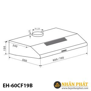 MÁY HÚT MÙI CỔ ĐIỂN EUROSUN EH-60CF19B