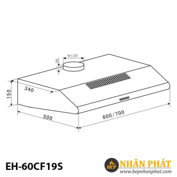MÁY HÚT MÙI CỔ ĐIỂN EUROSUN EH-60CF19S