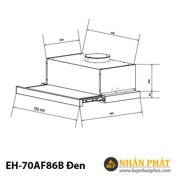 MÁY HÚT MÙI EUROSUN EH-70AF86B ĐEN