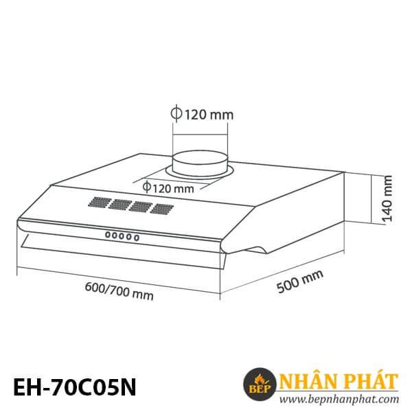 MÁY HÚT MÙI CỔ ĐIỂN EUROSUN EH-70C05N