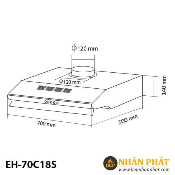 MÁY HÚT MÙI CỔ ĐIỂN EUROSUN EH-70C18S