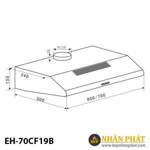 MÁY HÚT MÙI CỔ ĐIỂN EUROSUN EH-70CF19B