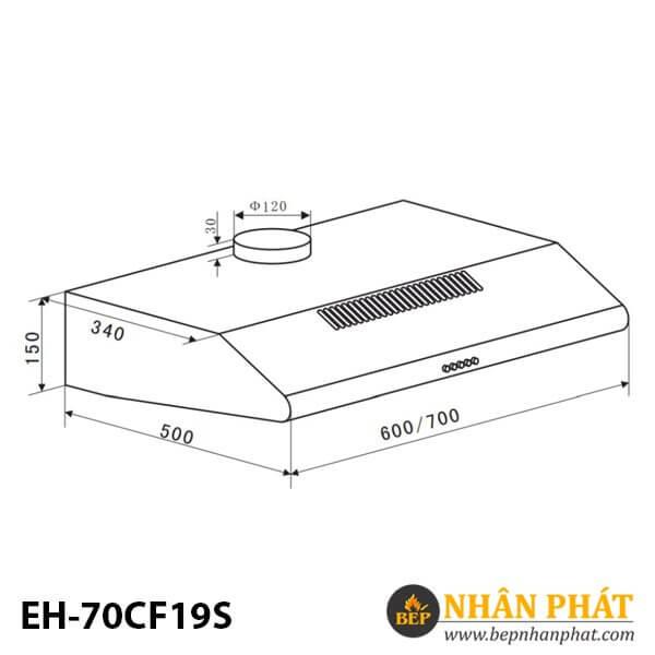MÁY HÚT MÙI CỔ ĐIỂN EUROSUN EH-70CF19S