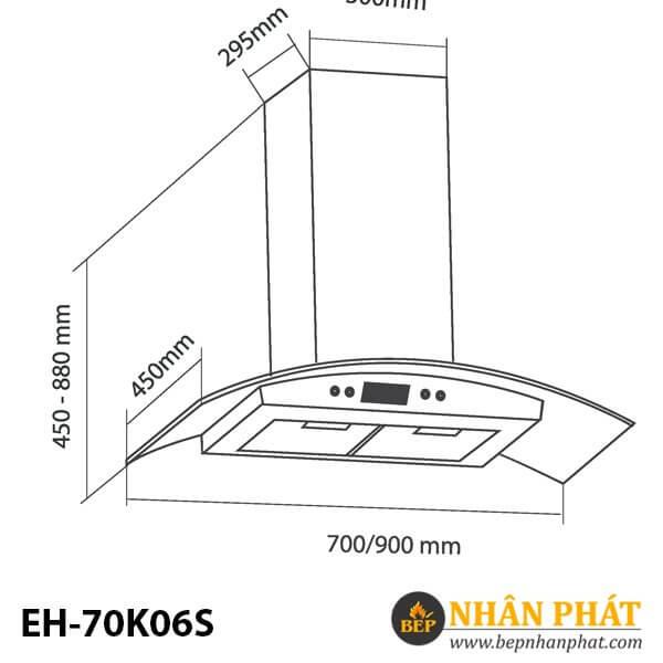 MÁY HÚT MÙI ỐNG KHÓI EUROSUN EH-70K06S