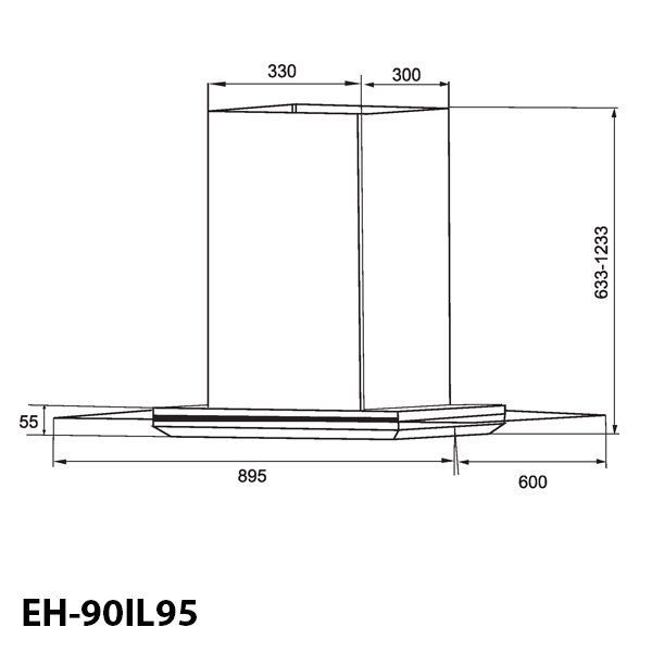 MÁY HÚT MÙI ỐNG KHÓI EUROSUN EH-90IL95