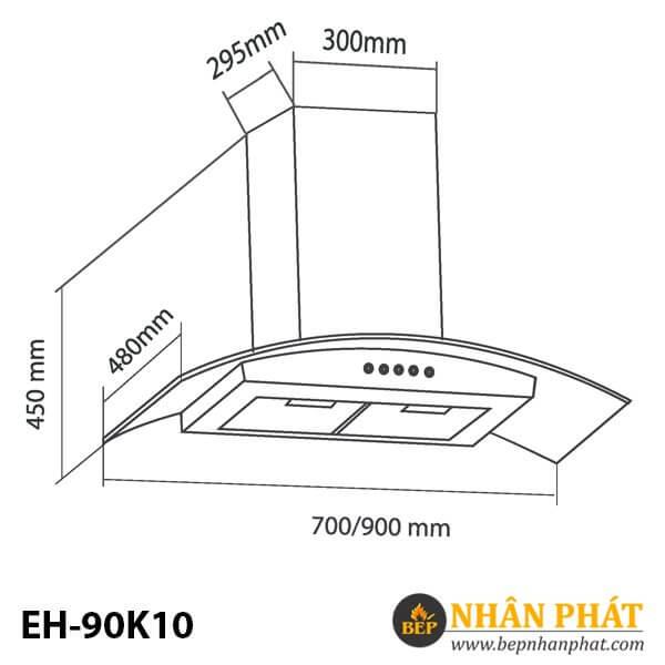MÁY HÚT MÙI ỐNG KHÓI EUROSUN EH-90K10