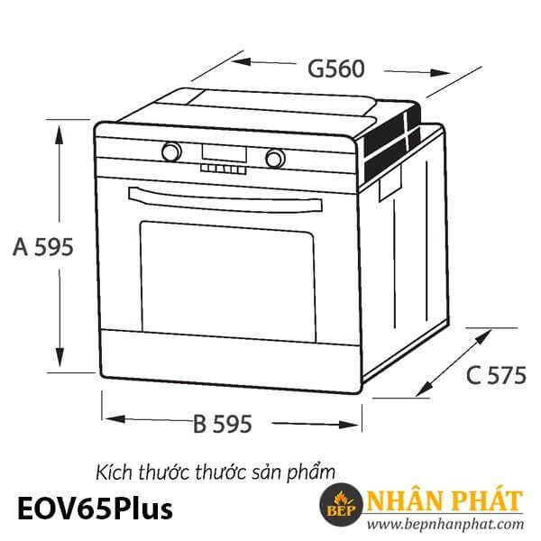 LÒ NƯỚNG EUROSUN EOV65Plus
