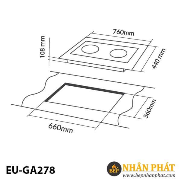 BẾP GAS ÂM EUROSUN EU-GA278