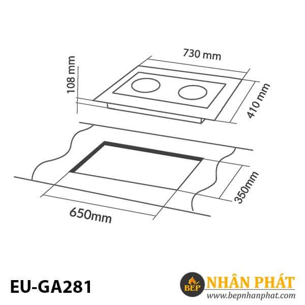 BẾP GAS ÂM EUROSUN EU-GA281