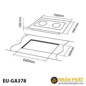BẾP GAS ÂM EUROSUN EU-GA378