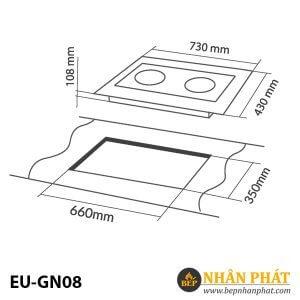 BẾP GAS ÂM EUROSUN EU-GN08