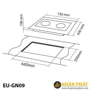 BẾP GAS ÂM EUROSUN EU-GN09