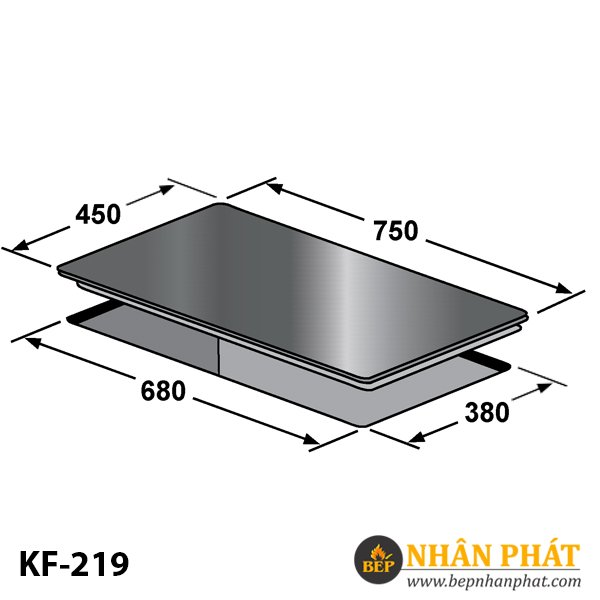 BẾP GAS ÂM KAFF KF-219