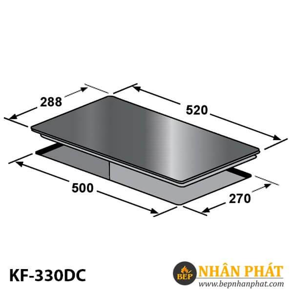 BẾP ĐIỆN TỪ DOMINO KAFF KF-330DC
