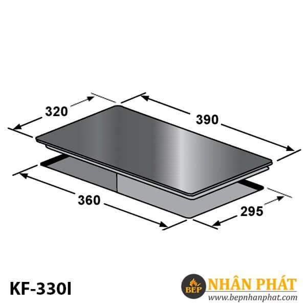 BẾP TỪ ĐƠN DOMINO KAFF KF-330I