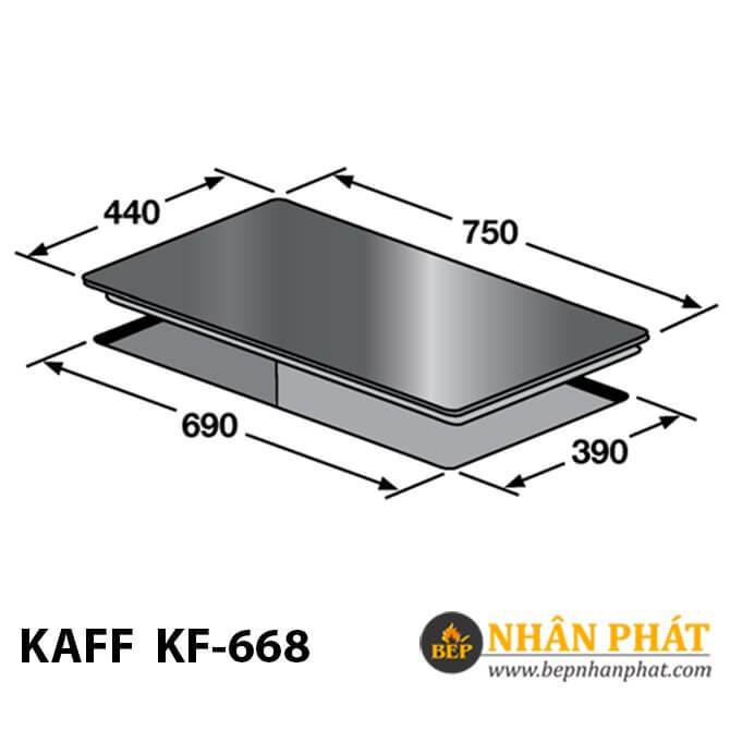 Bếp gas âm KAFF KF-668