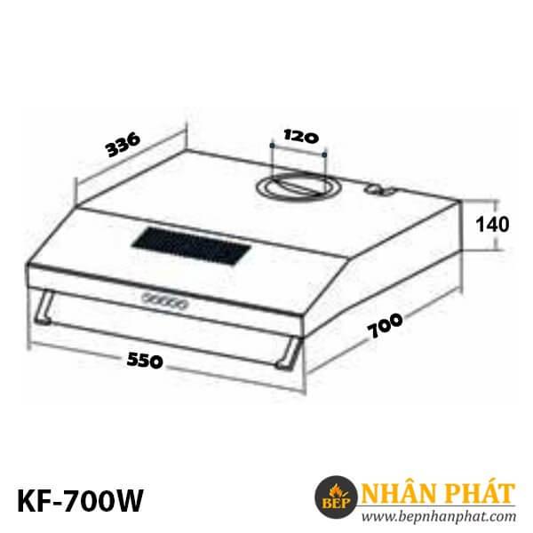 MÁY HÚT MÙI CỔ ĐIỂN KAFF KF-700W