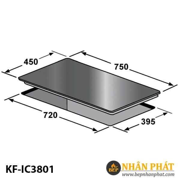 BẾP ĐIỆN TỪ KẾT HỢP KAFF KF-IC3801