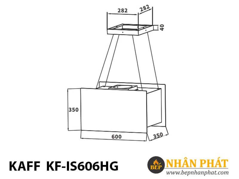 Máy hút mùi độc lập treo cáp KF-IS606HG